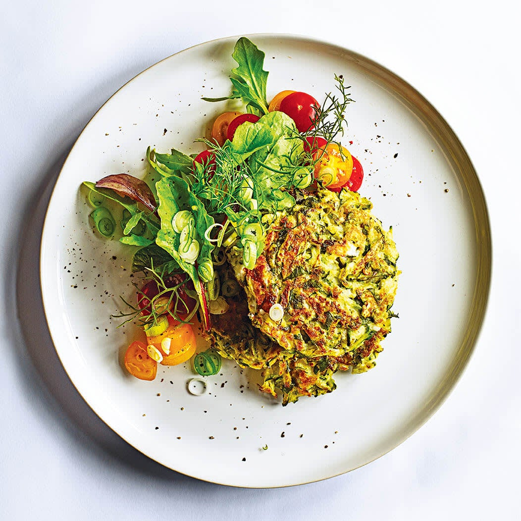 Photo of Spiced courgette & feta fritters by WW