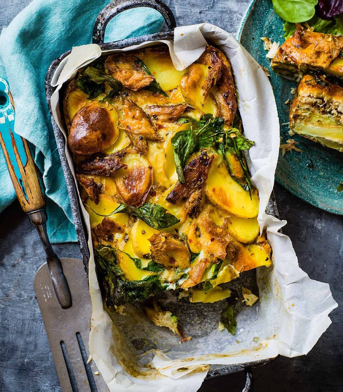 Photo of Smoked mackerel, spinach & new potato frittata by WW