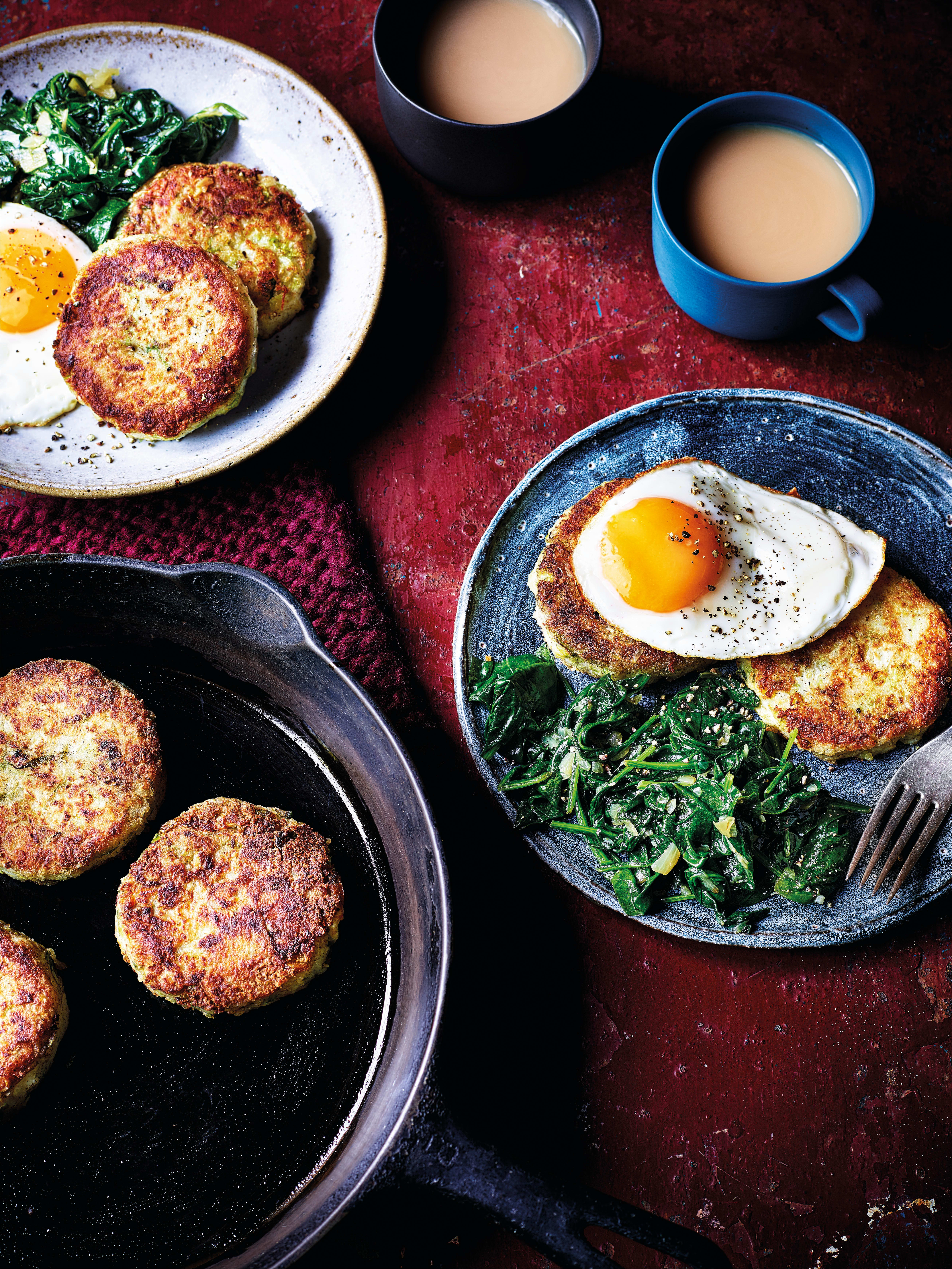 Photo of Colcannon cakes with fried eggs by WW