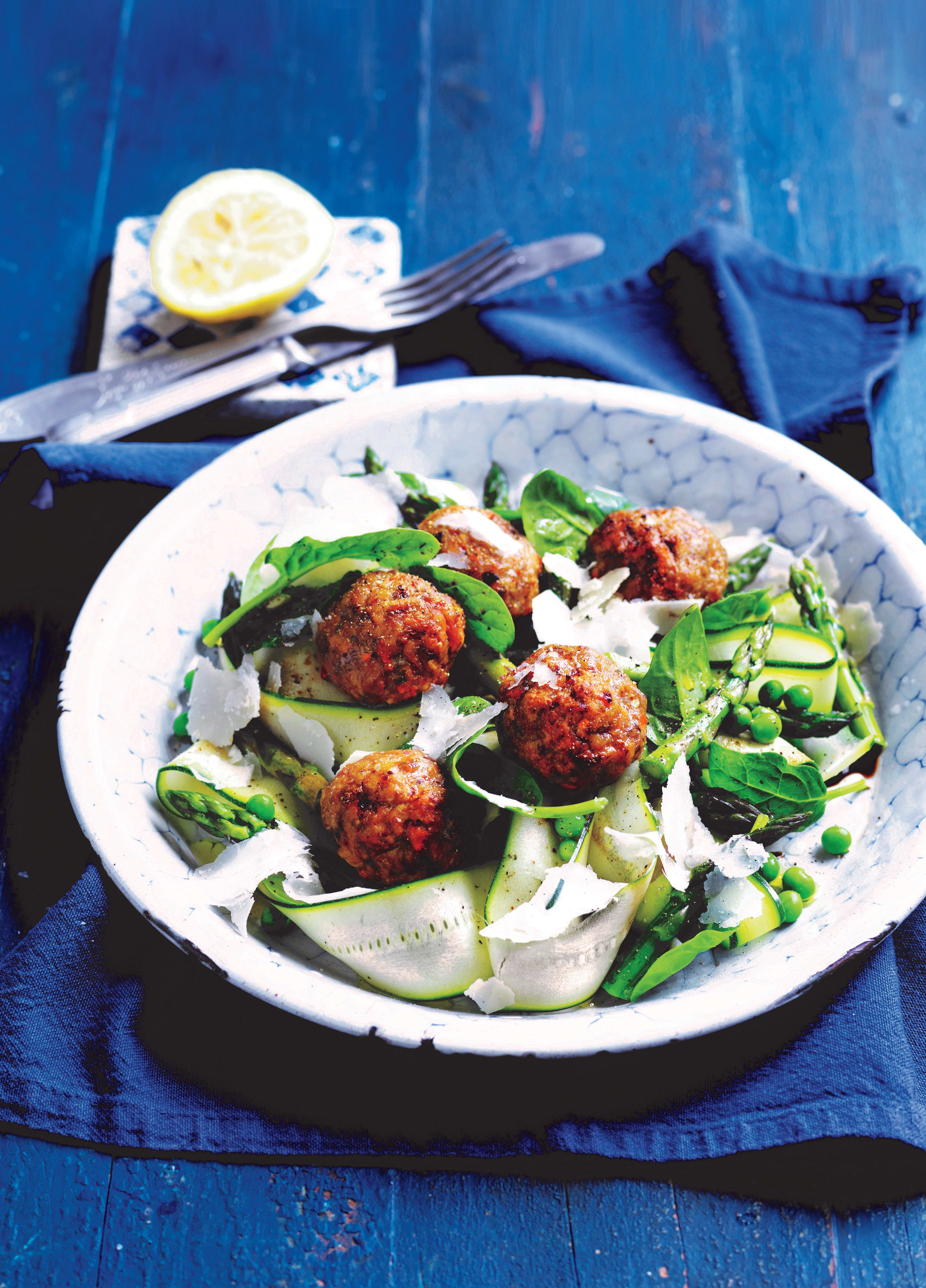 Photo of Baked meatballs with spring salad by WW