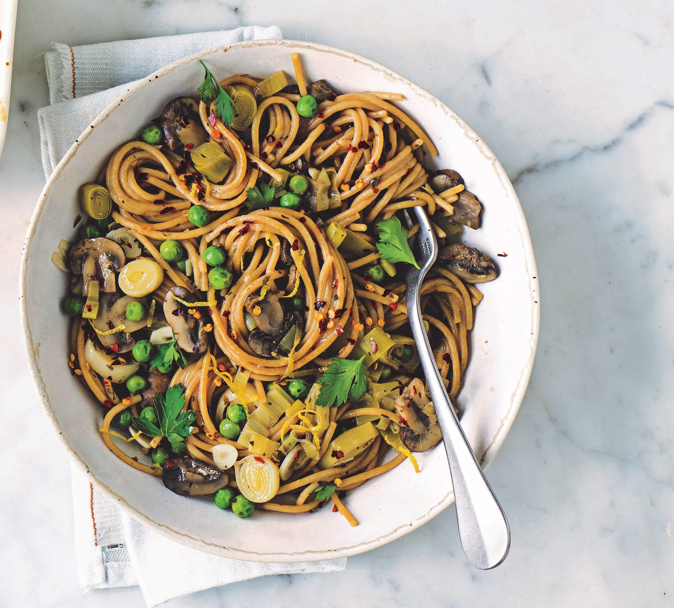 Photo of One pot leek, mushroom &  pea pasta by WW