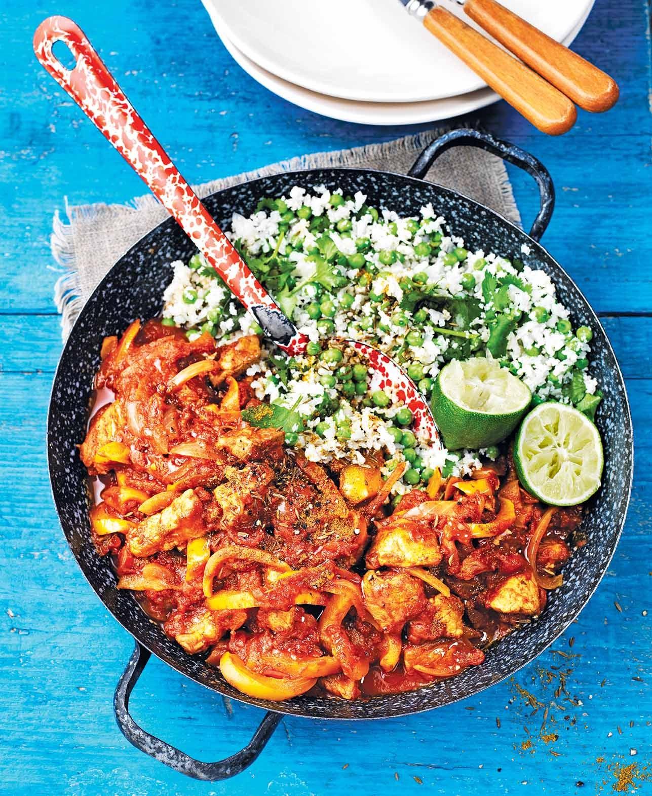 Photo of Pork jalfrezi with cauli rice by WW