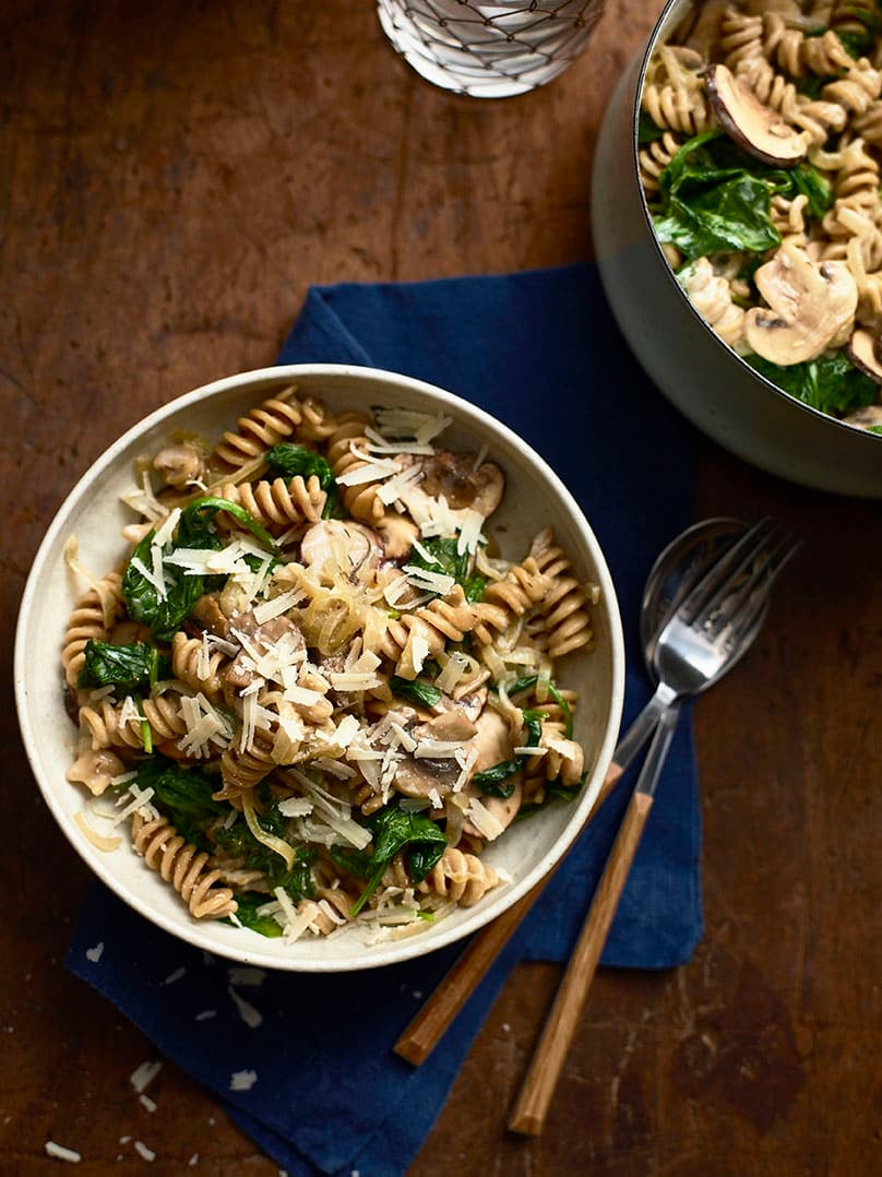Photo of One-pot mushroom & spinach pasta by WW