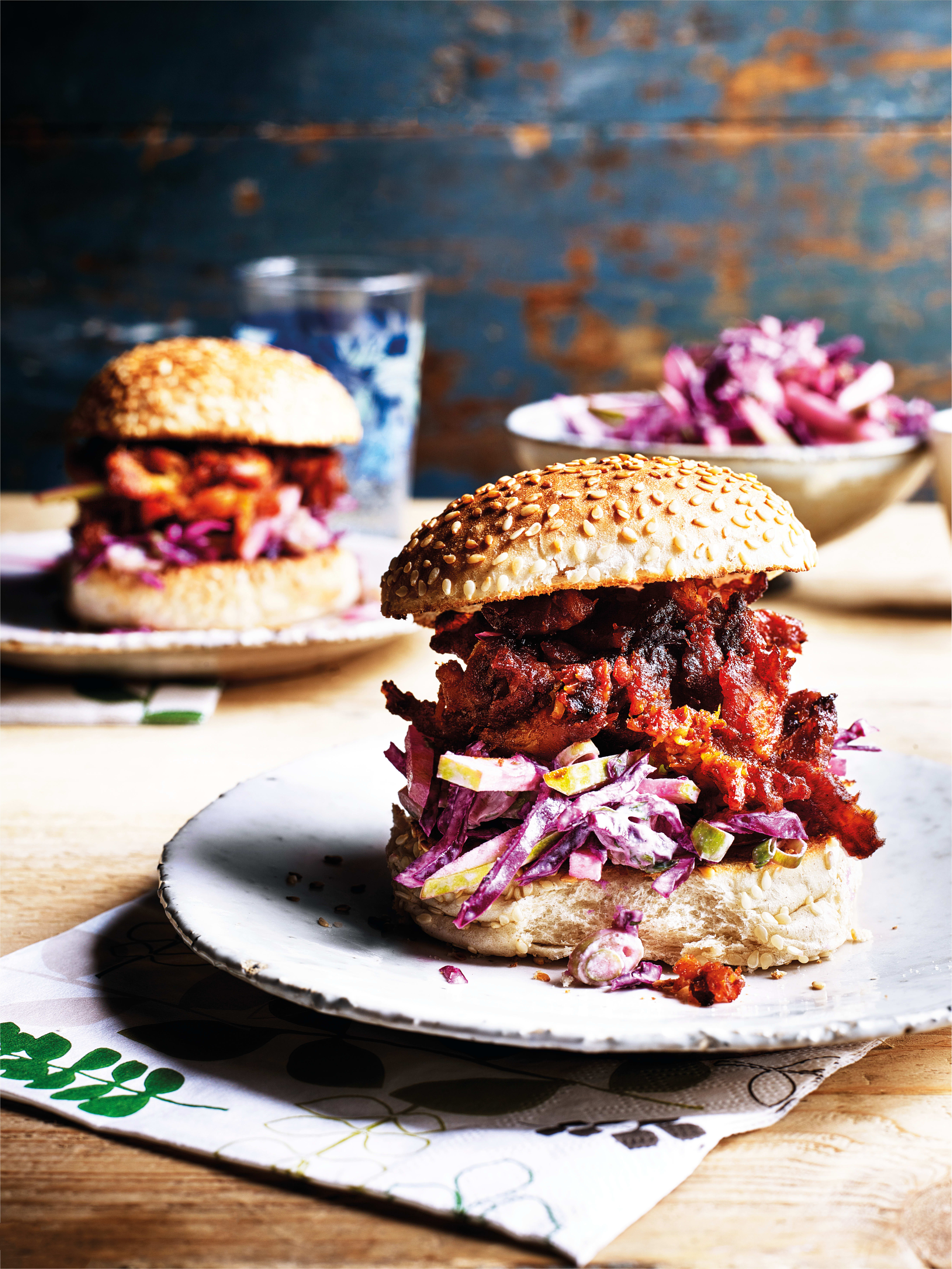 Photo of Pulled celeriac burgers with apple slaw by WW