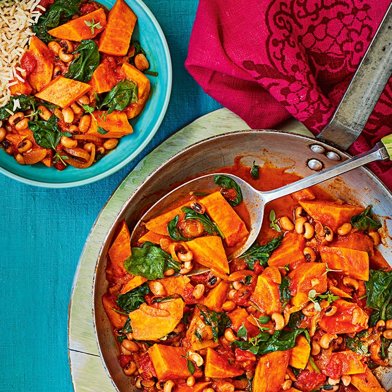 Photo of West Indian-style spinach & sweet potato curry by WW