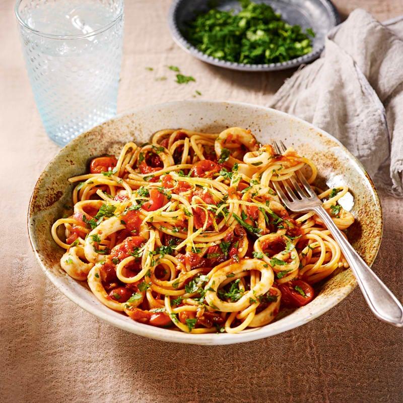 Photo of Spaghetti arrabbiata with squid by WW