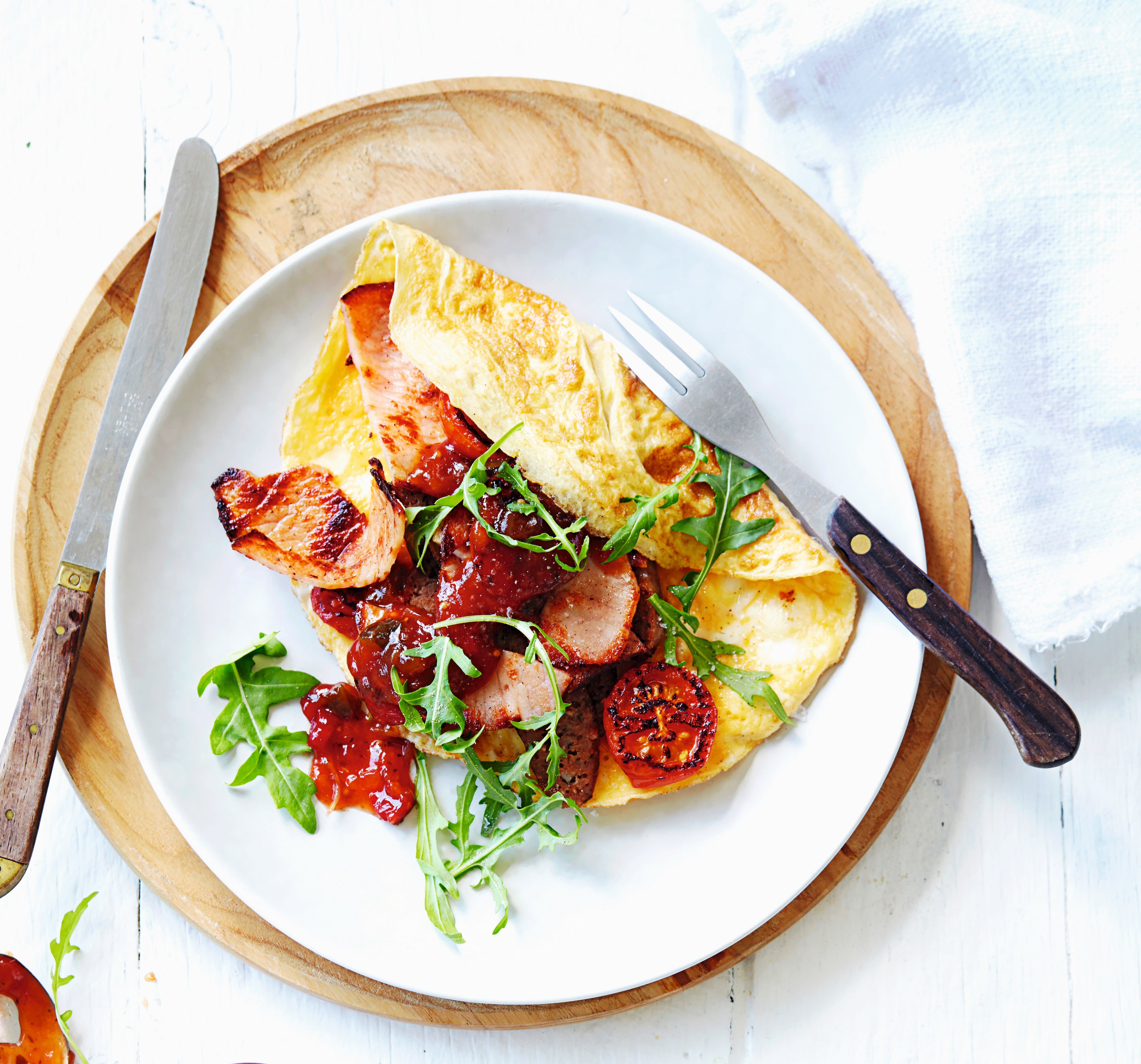 Photo of Sausage & bacon omelette by WW