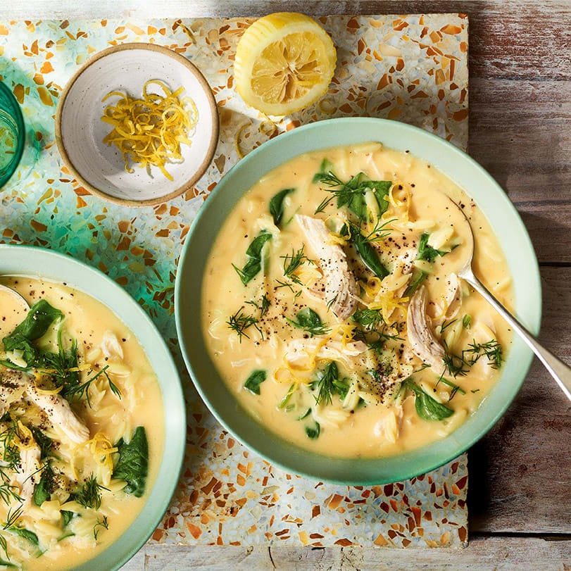 Photo of Greek-style lemon & chicken soup by WW