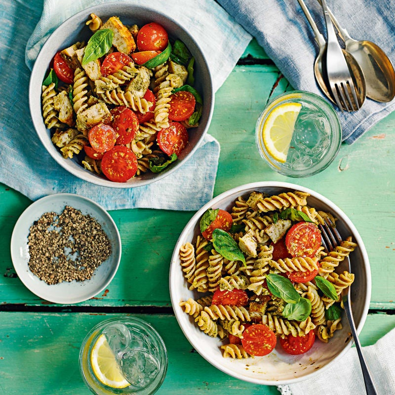 Photo of Grilled chicken with pesto pasta by WW