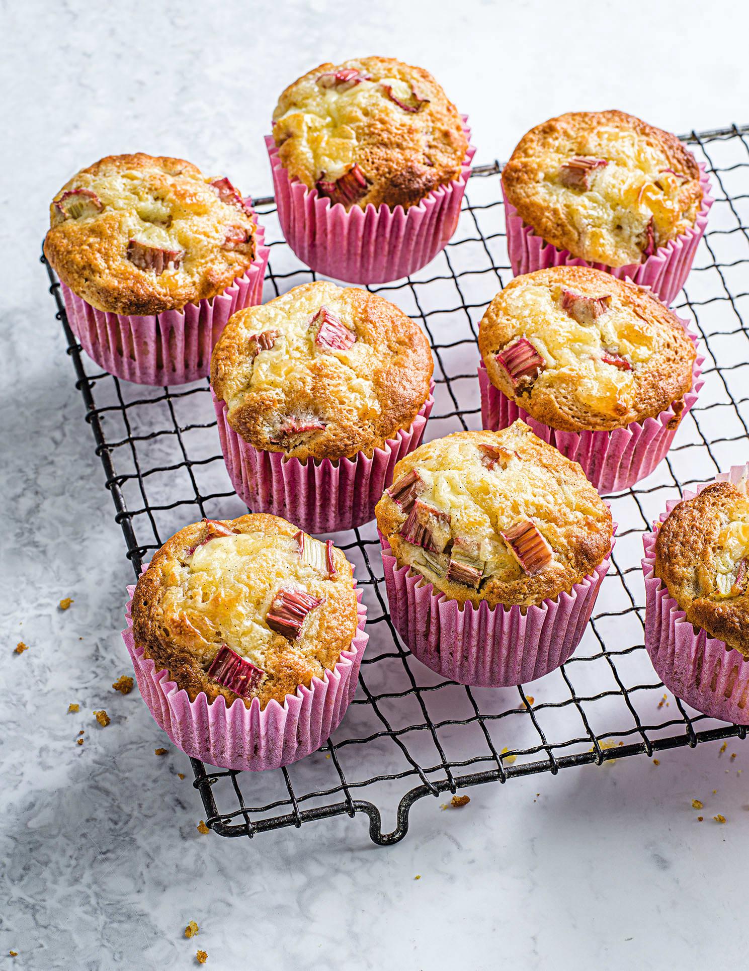 Photo of Rhubarb & custard muffins by WW