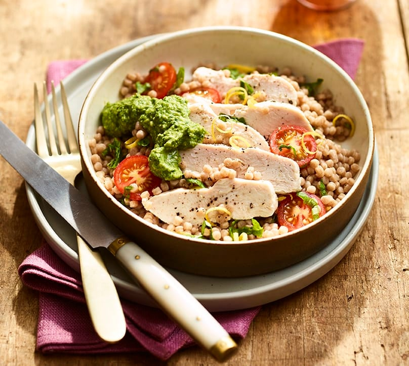 Photo of Giant couscous bowl with chicken & homemade cashew pesto by WW