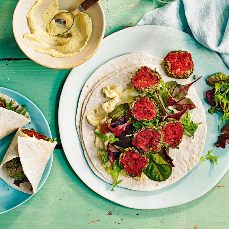 Photo of Beetroot & spinach falafel by WW