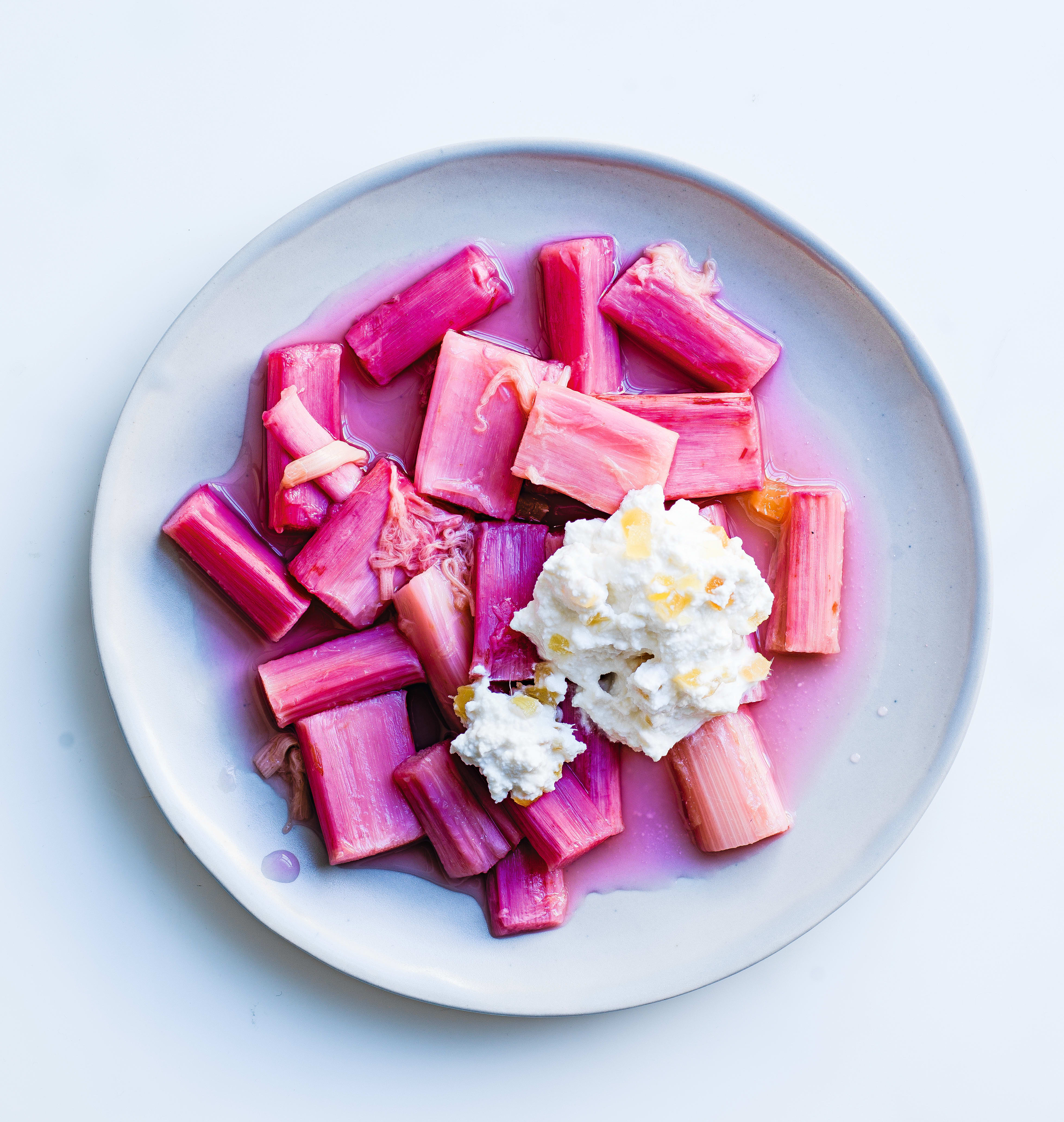 Photo of Roasted rhubarb with ricotta & stem ginger by WW