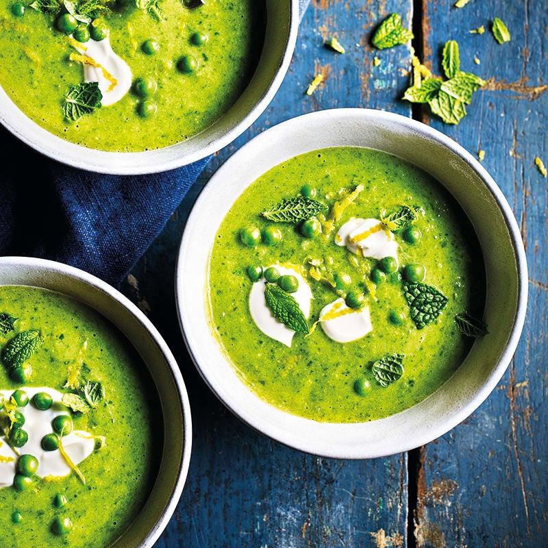 Photo of Pea, mint &  crème fraiche soup by WW