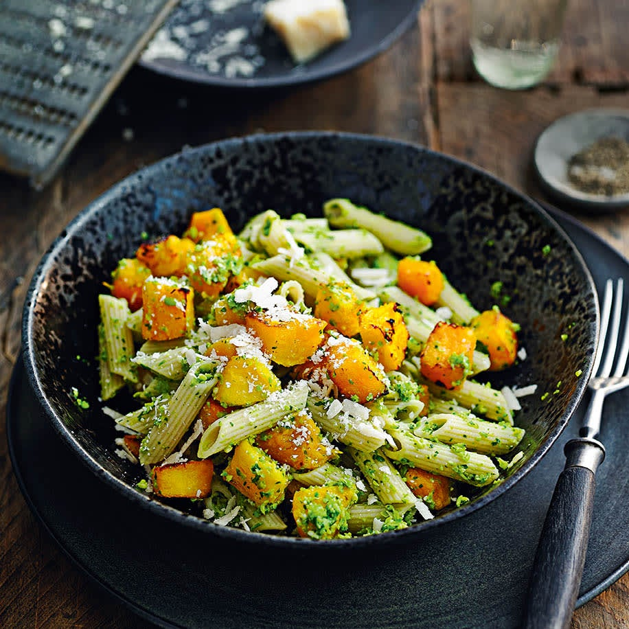 Photo of Penne with squash & watercress pesto by WW