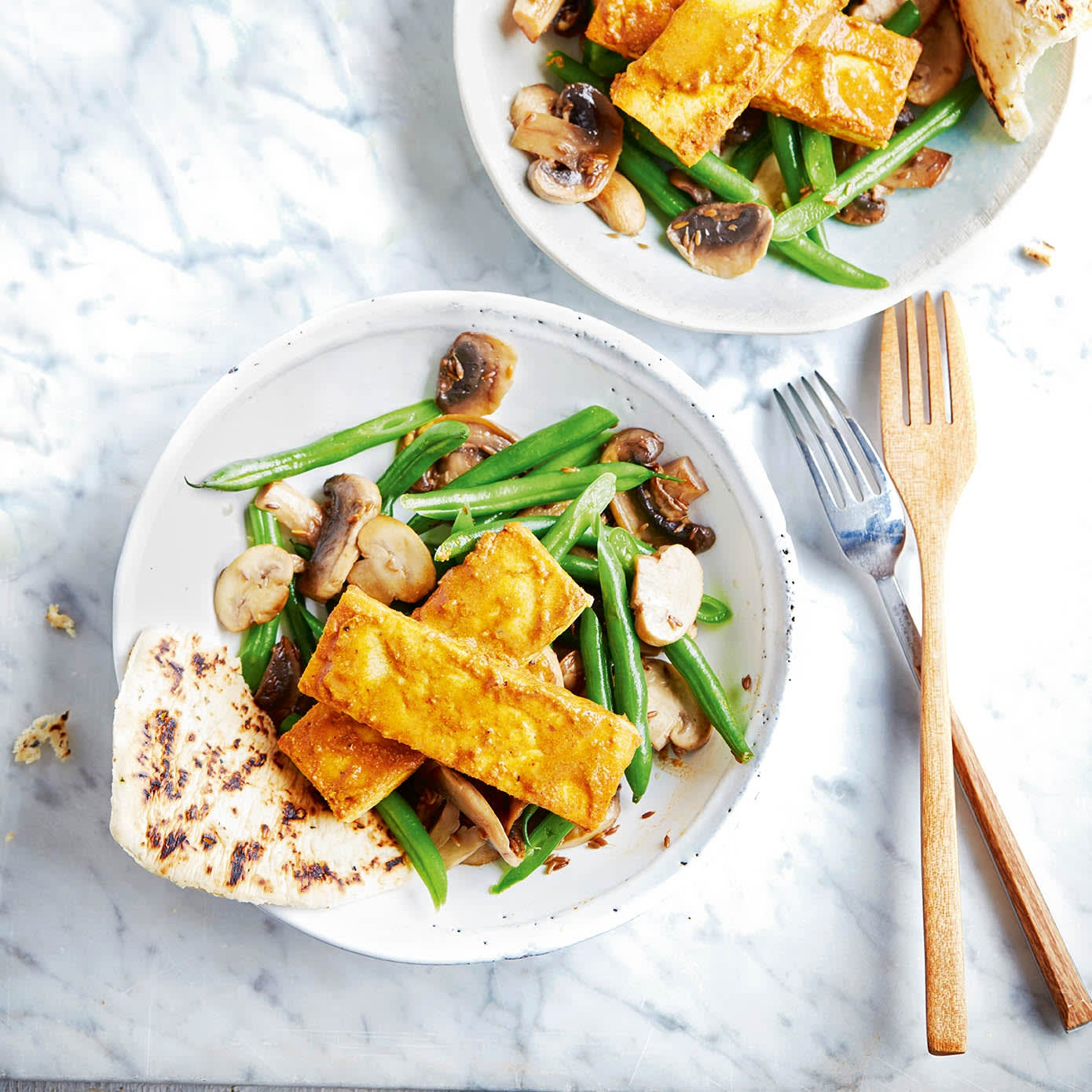 Photo of Tikka tofu with mushrooms & green beans by WW
