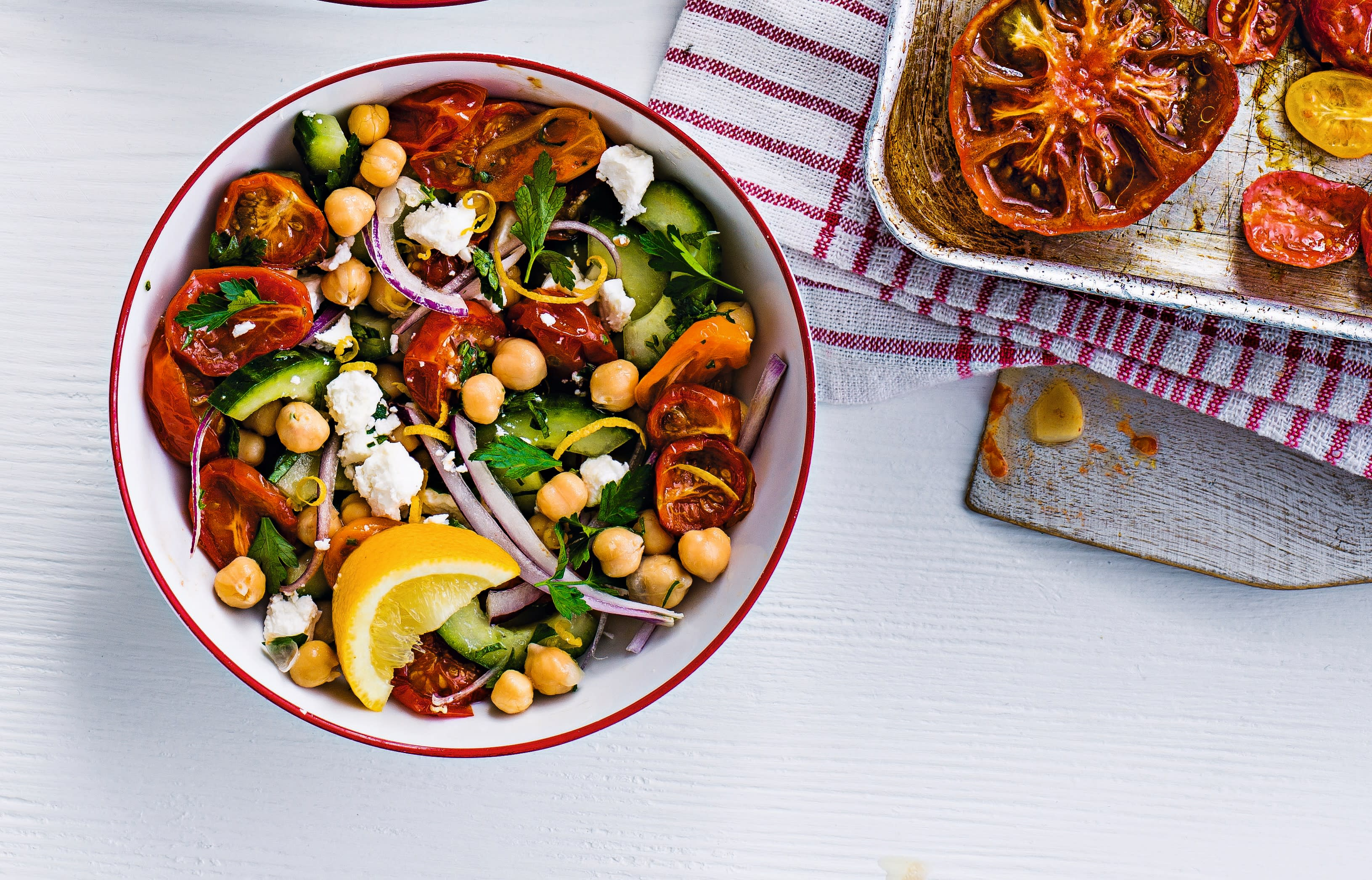 Photo of Roasted tomatoes with feta & chickpeas by WW
