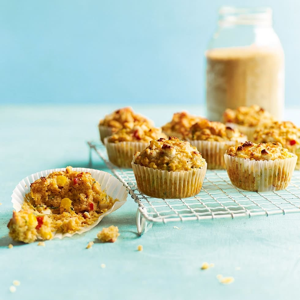 Photo of Courgette, pepper & feta couscous muffins by WW