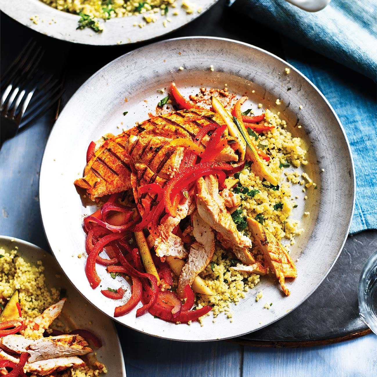 Photo of Griddled chicken with herby couscous by WW