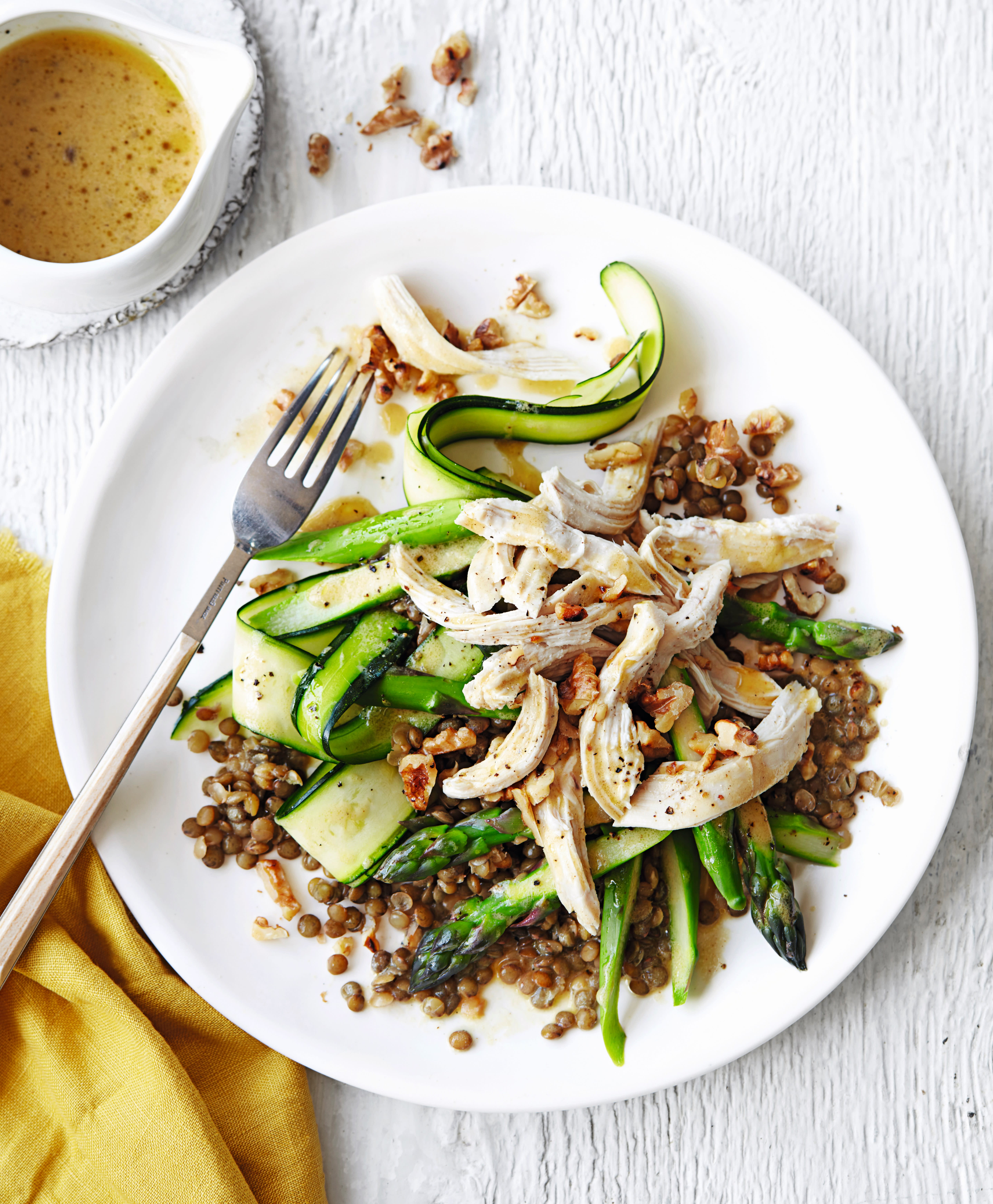 Photo of Poached chicken with Puy lentils, courgette & asparagus by WW