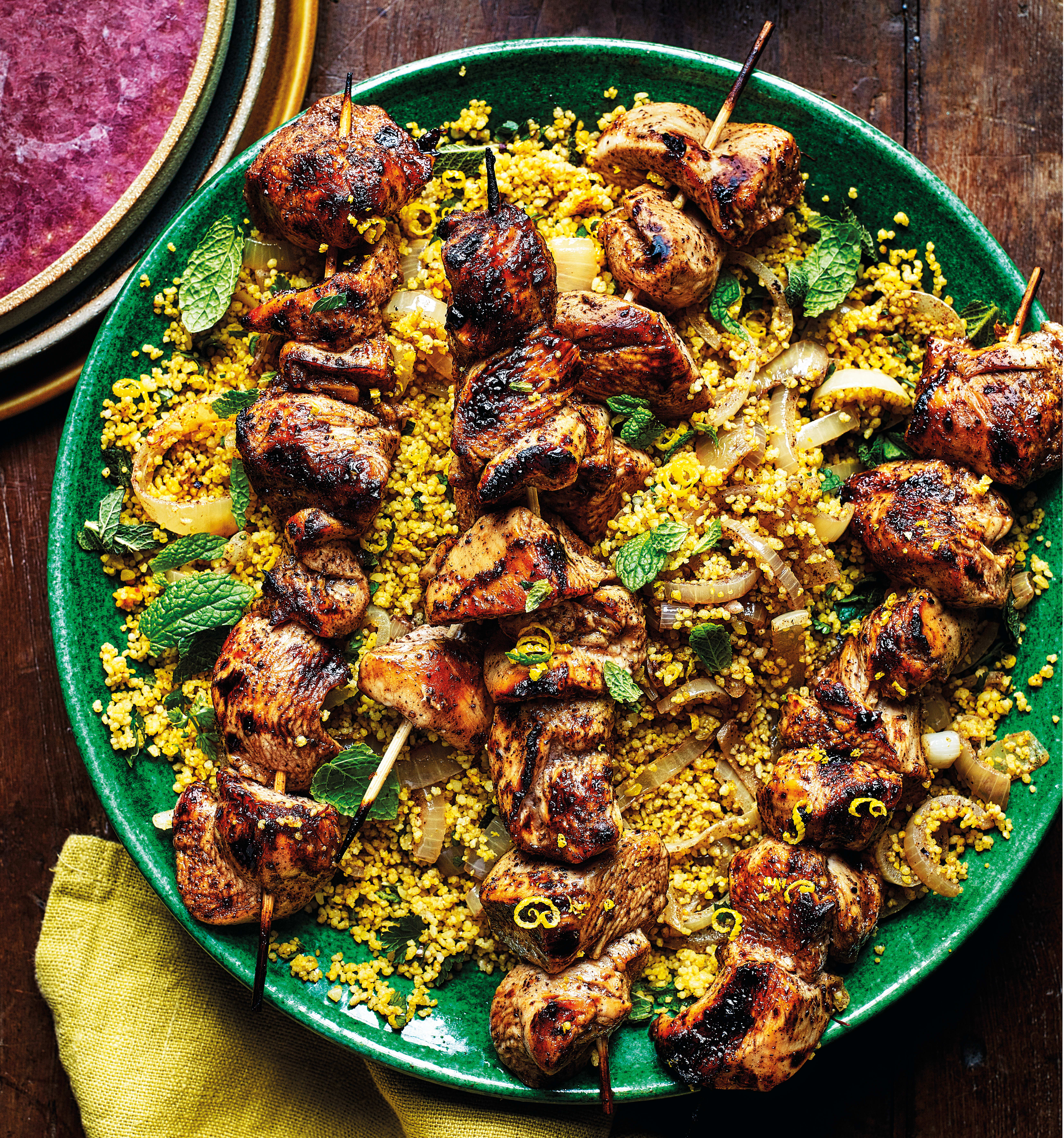 Photo of Chicken kebabs with herby couscous by WW