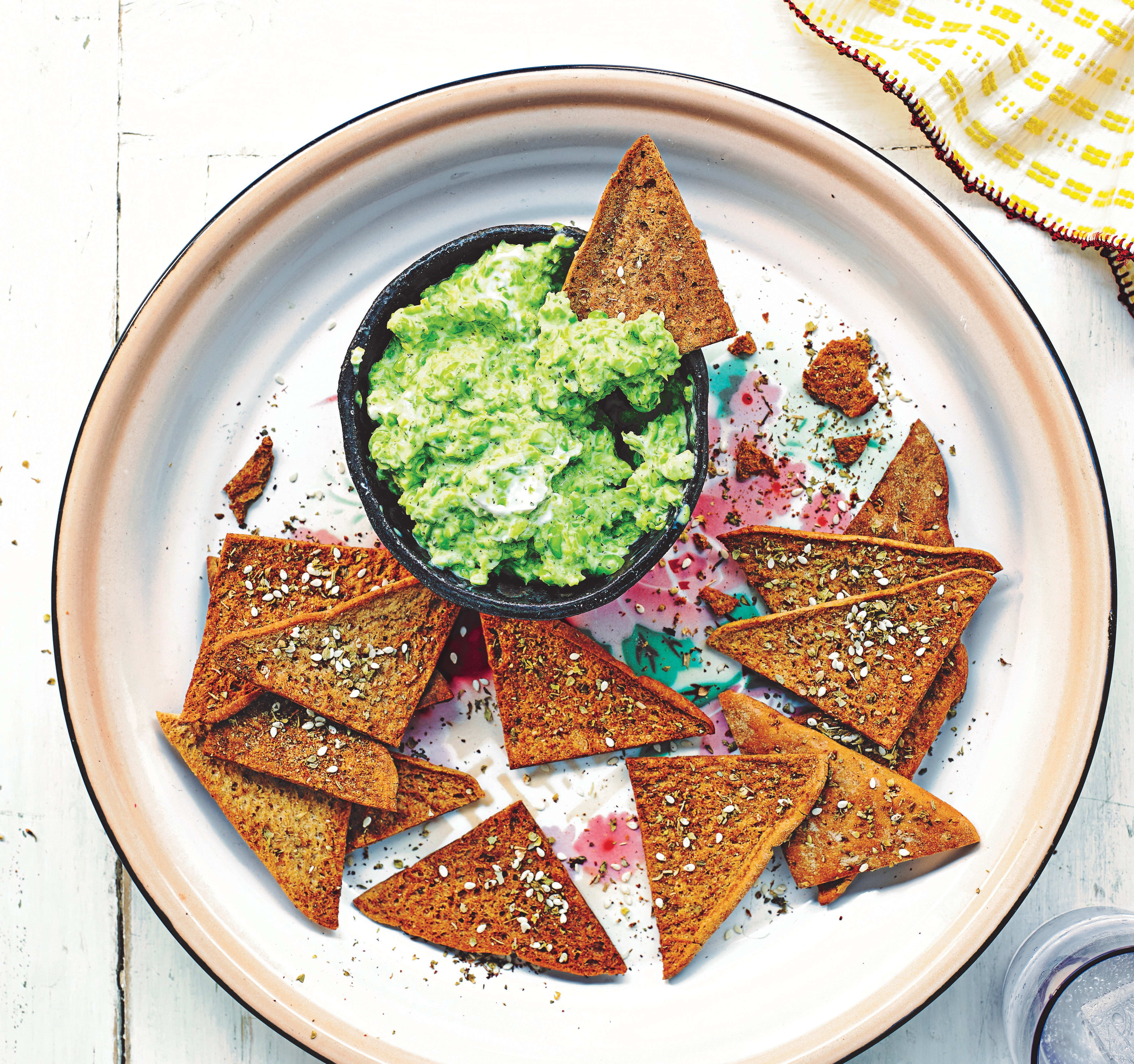 Photo of Pea & mint dip with melba toasts by WW