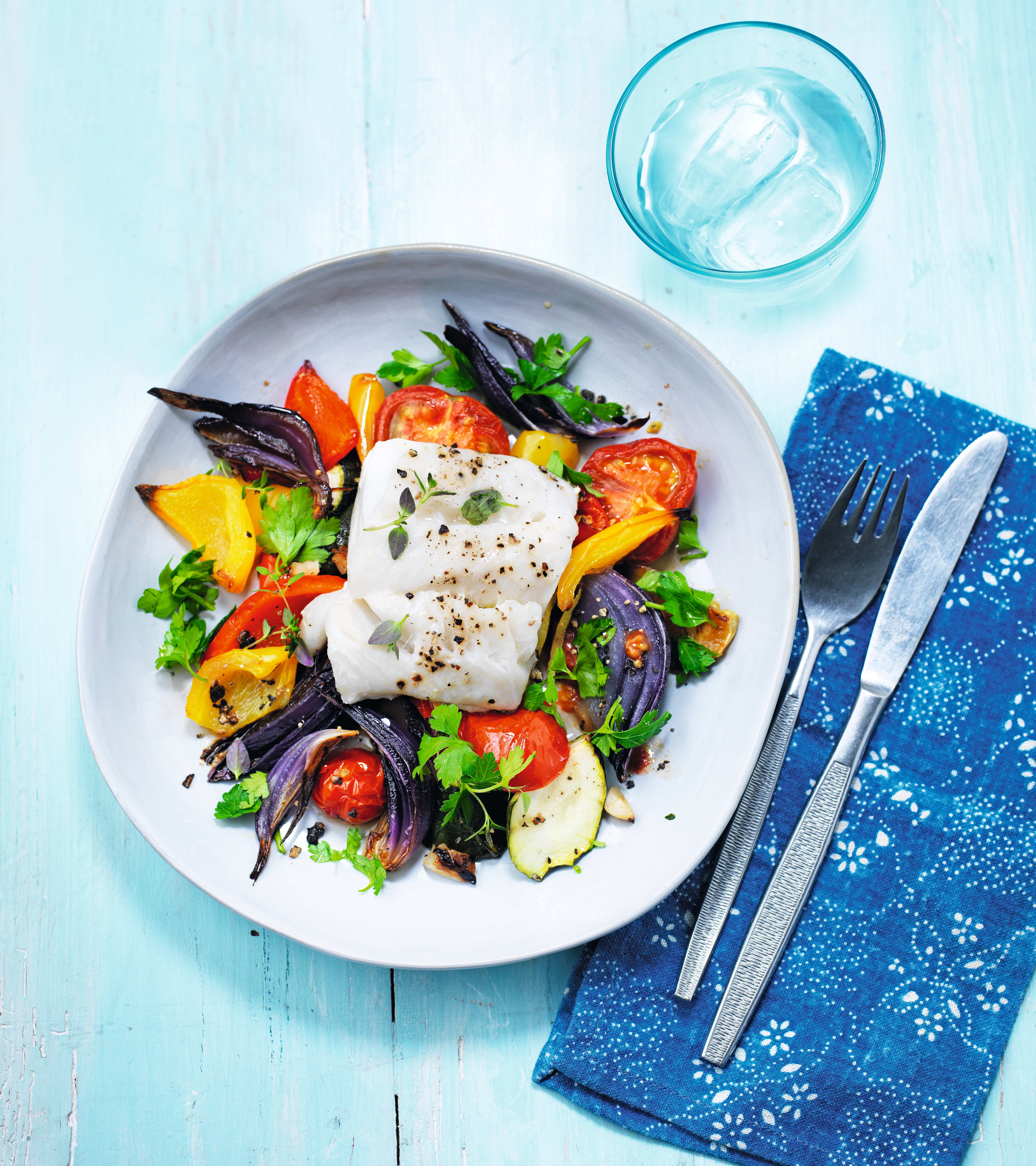 Photo of Herby hake with roasted vegetables by WW