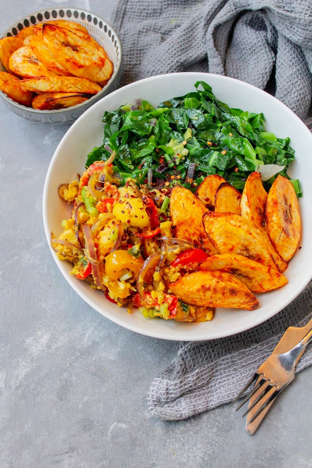Photo of Ackee with grilled plantains & spring greens by Digital 360 Coach Nancy by WW