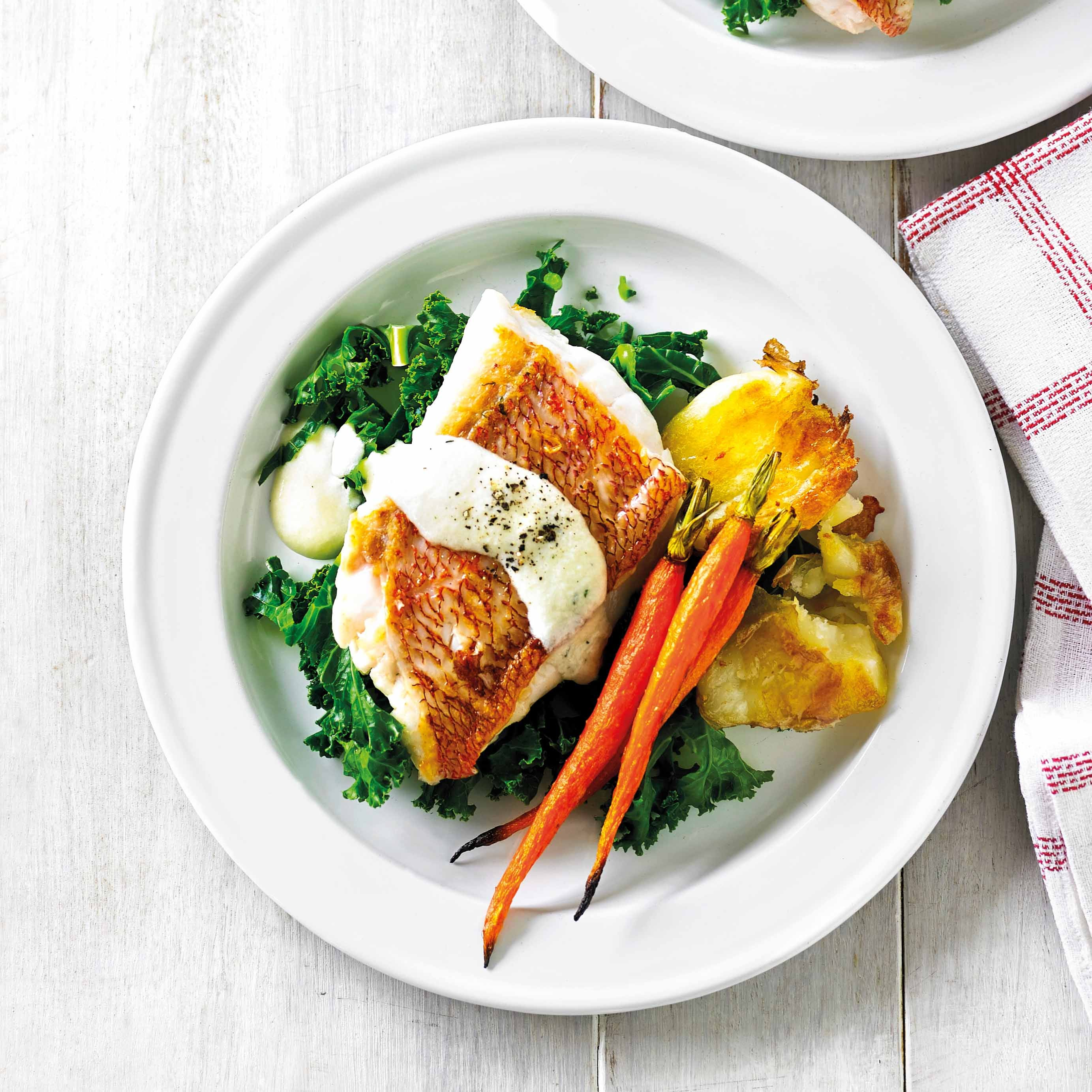 Photo of Fish fillets with creamy lemon sauce by WW