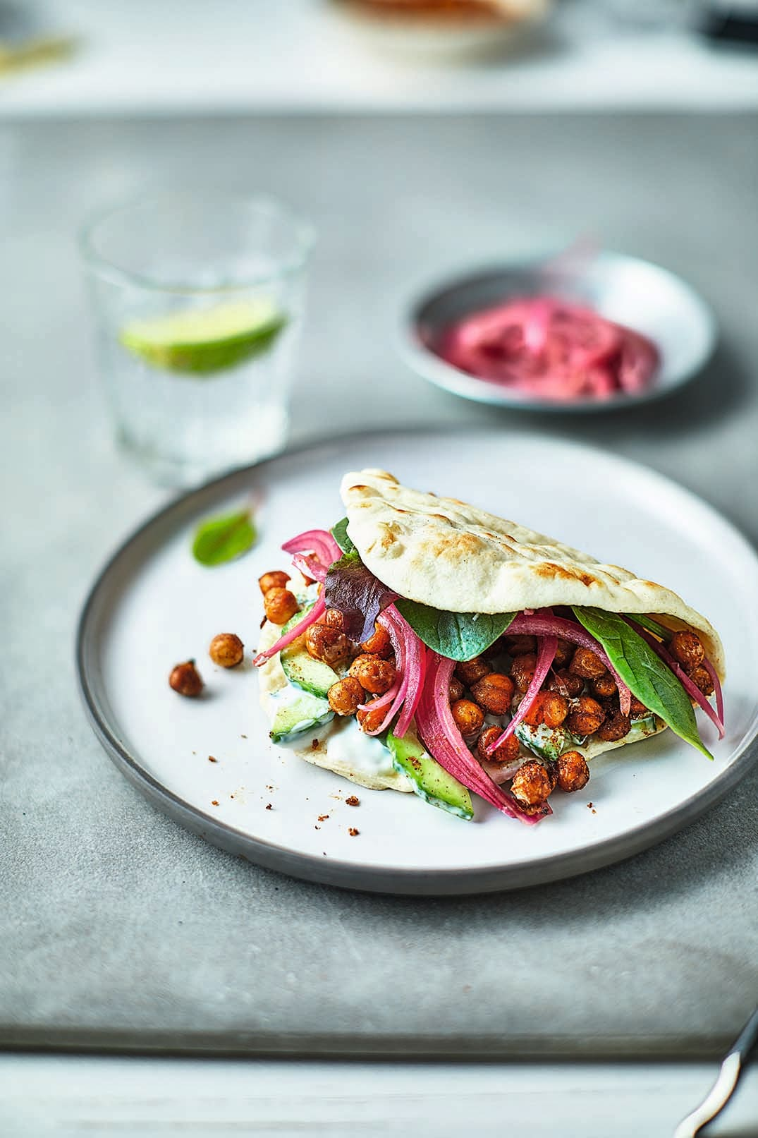 Photo of Roasted chickpea gyros by WW