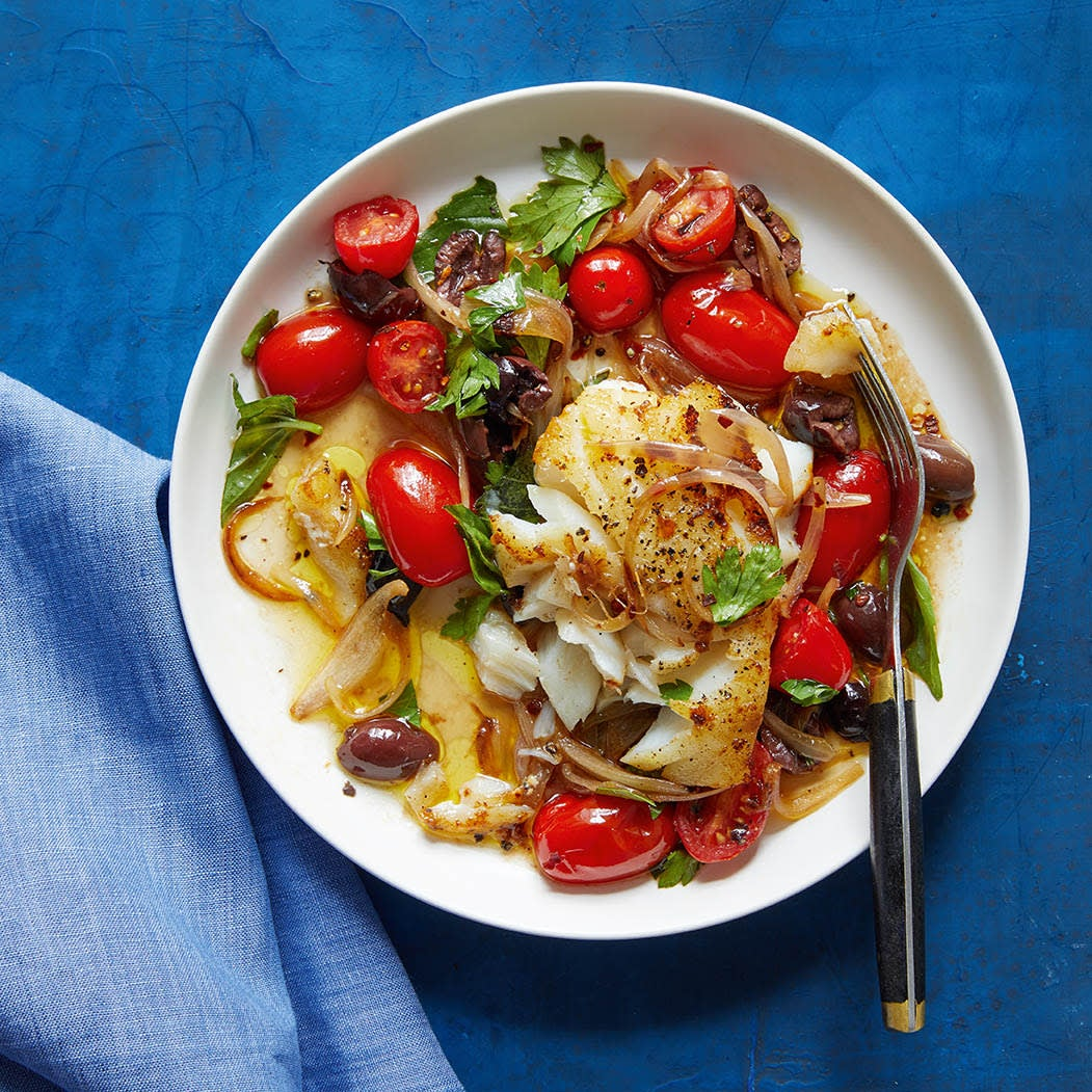 Photo of Sautéed cod with tomatoes & olives by WW