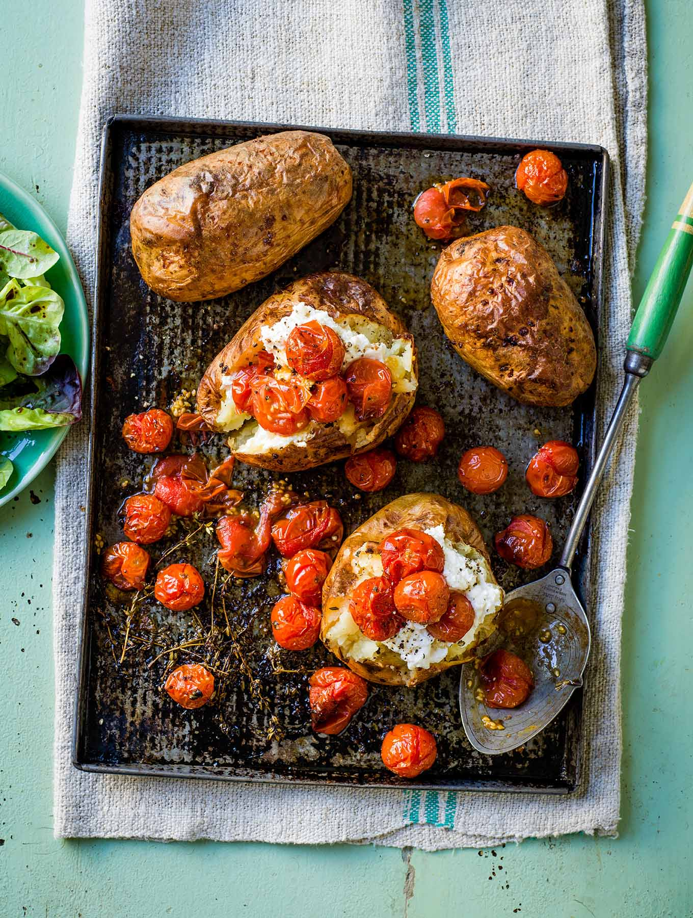 Photo of Baked potatoes with ricotta & roasted tomatoes by WW