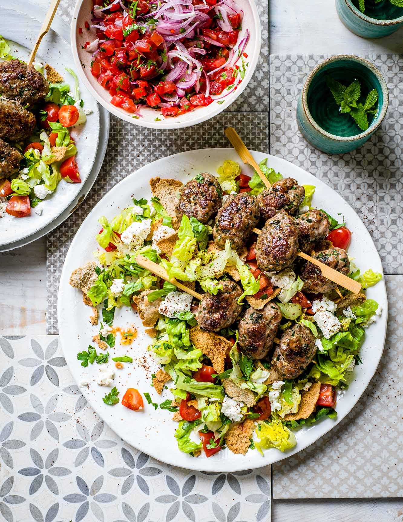 Photo of Lamb koftas with Turkish salad by WW
