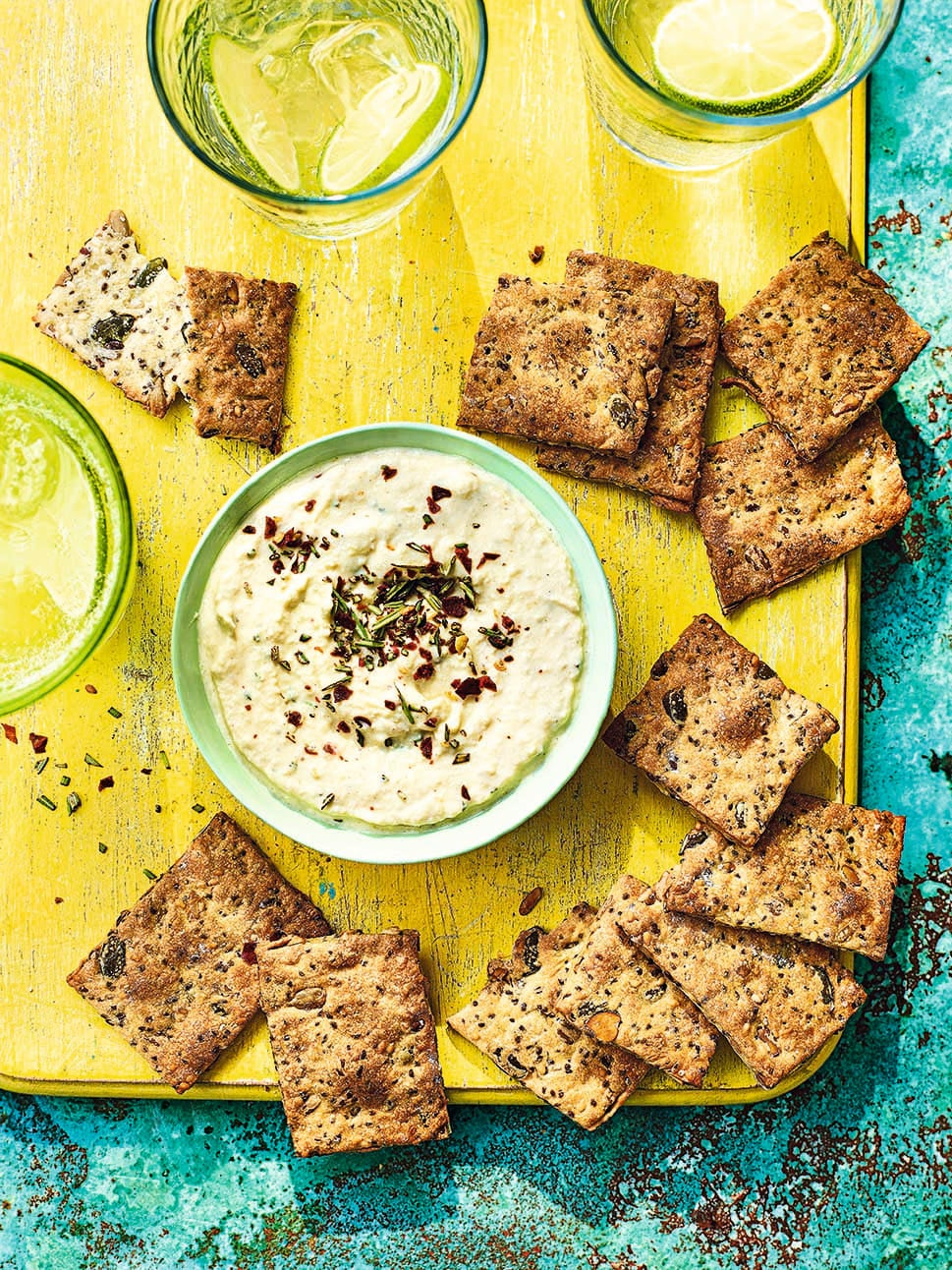 Photo of Seed crackers with artichoke dip by WW