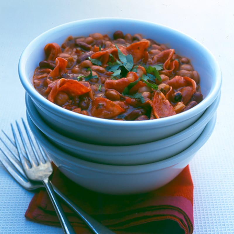 Photo of Quick chorizo & bean chilli by WW