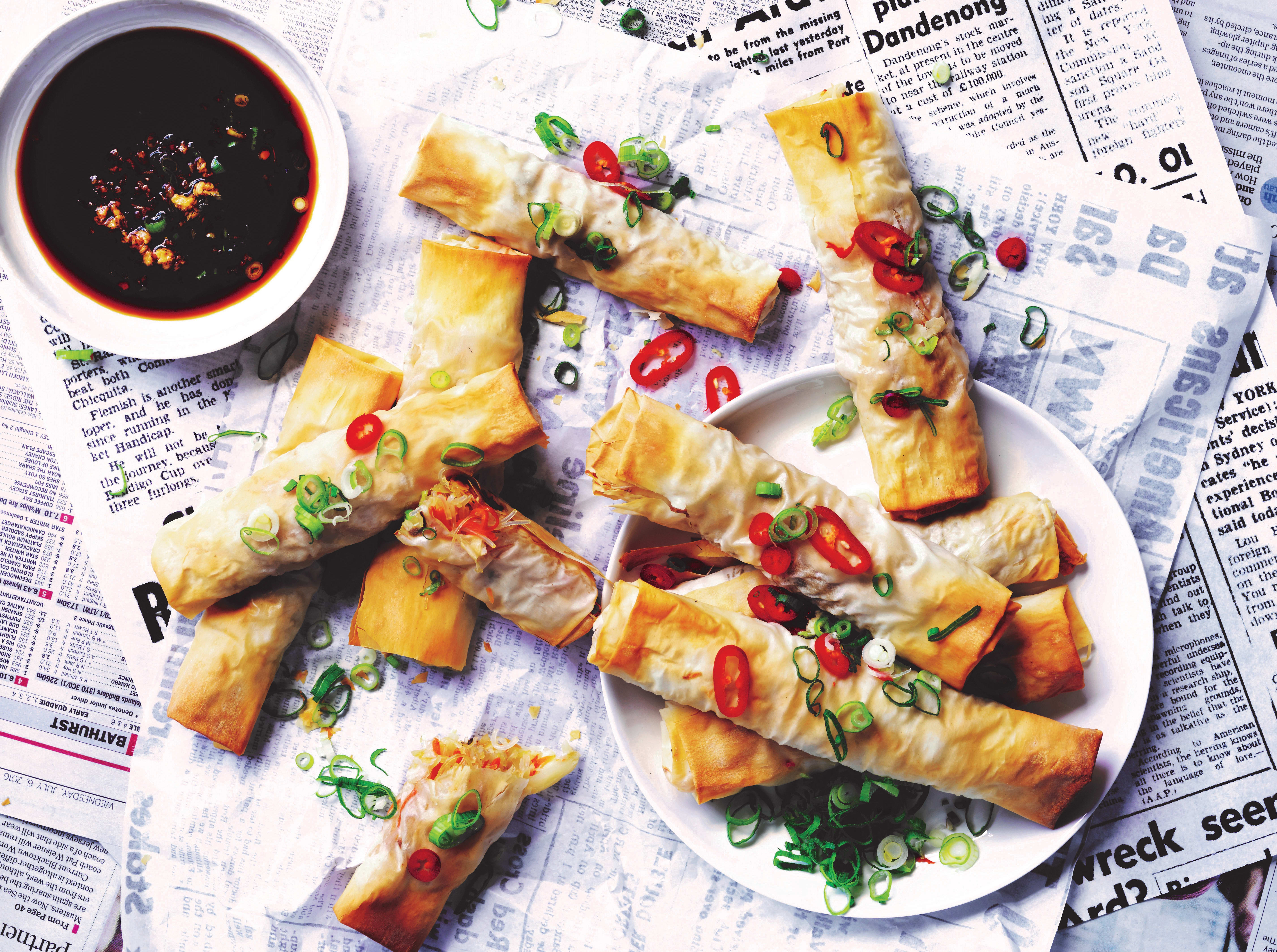 Photo of Baked vegetable spring rolls by WW
