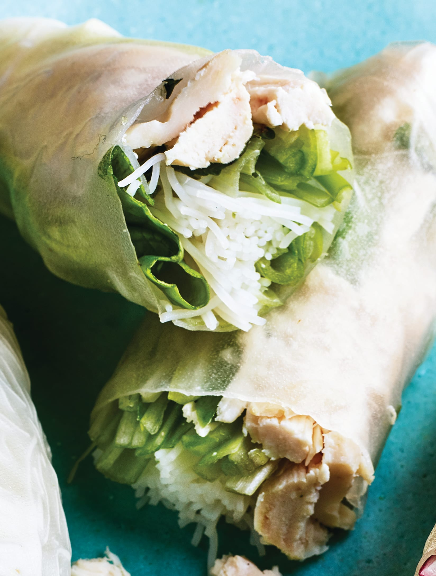 Photo of Chicken & mint summer rolls with dipping sauce by WW