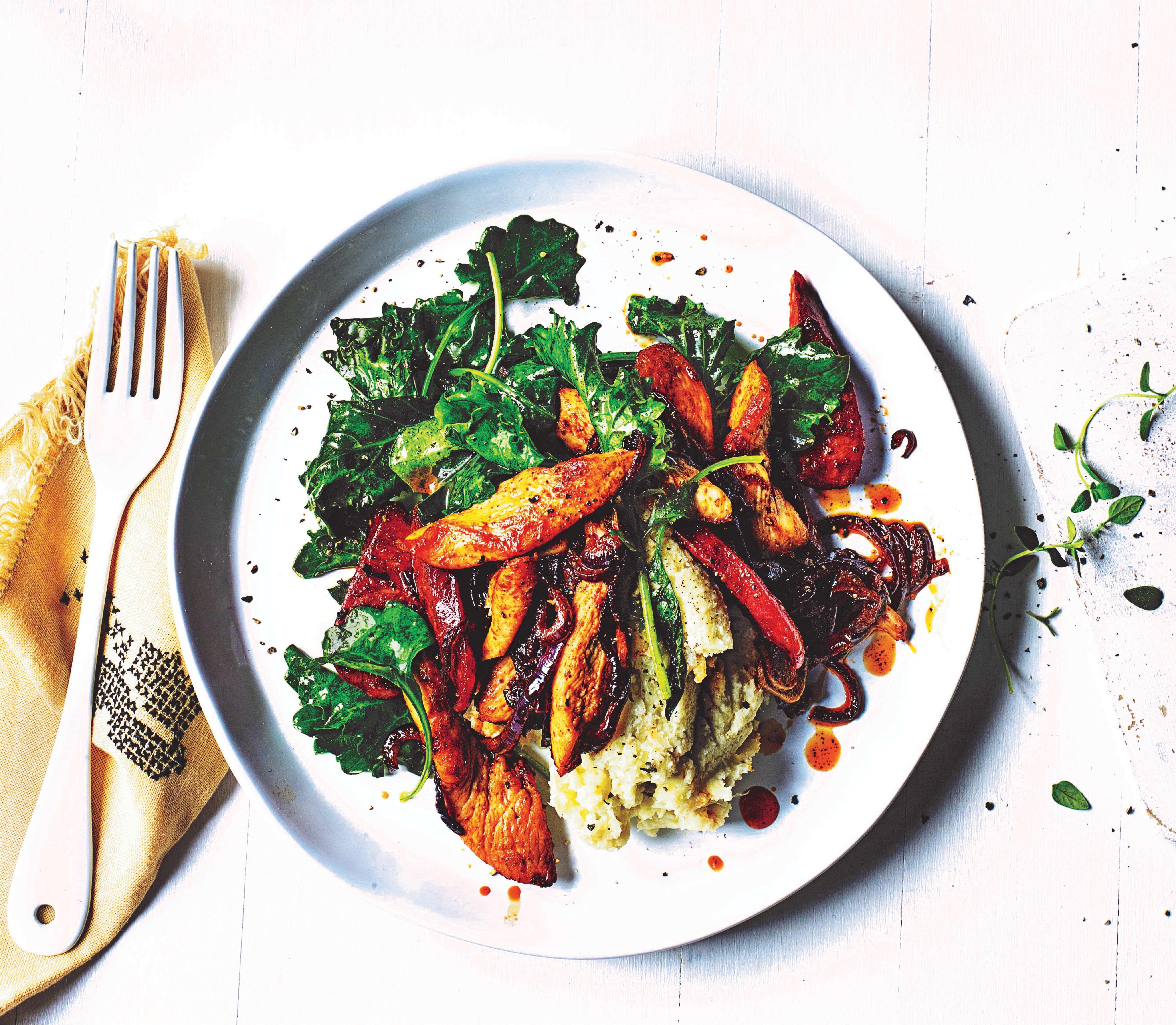 Photo of Chicken, chorizo & kale with cauli mash by WW