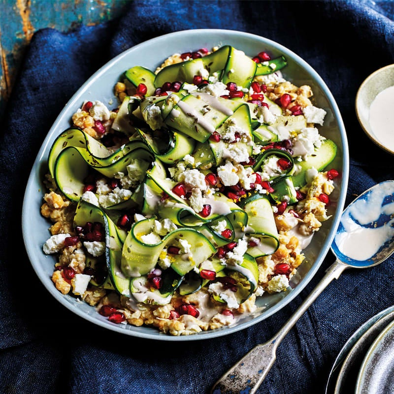 Photo of Smashed chickpeas with grilled courgettes & feta by WW