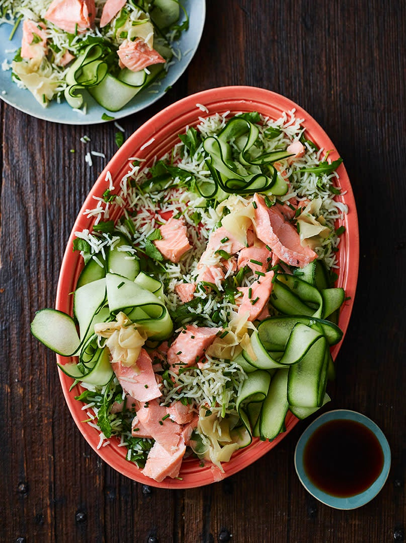 Photo of Sushi-style rice salad with salmon by WW