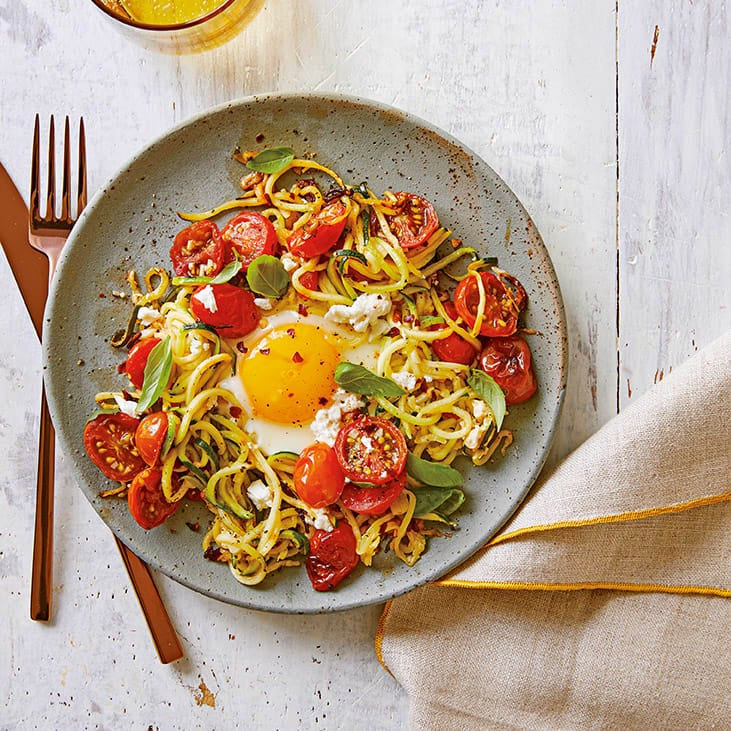 Photo of Egg in a courgetti nest by WW