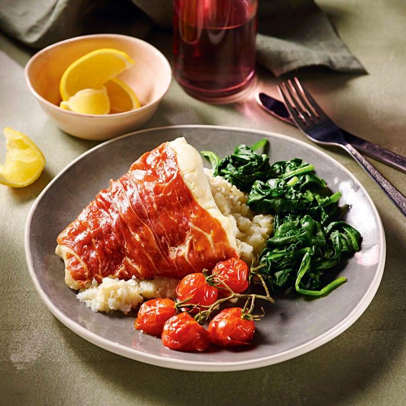 Photo of Prosciutto-wrapped haddock with celeriac mash by WW