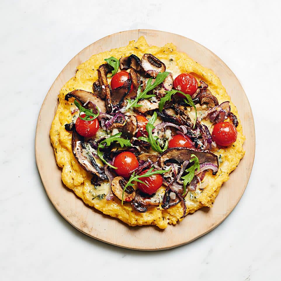 Photo of Mushroom & blue cheese polenta pizza by WW