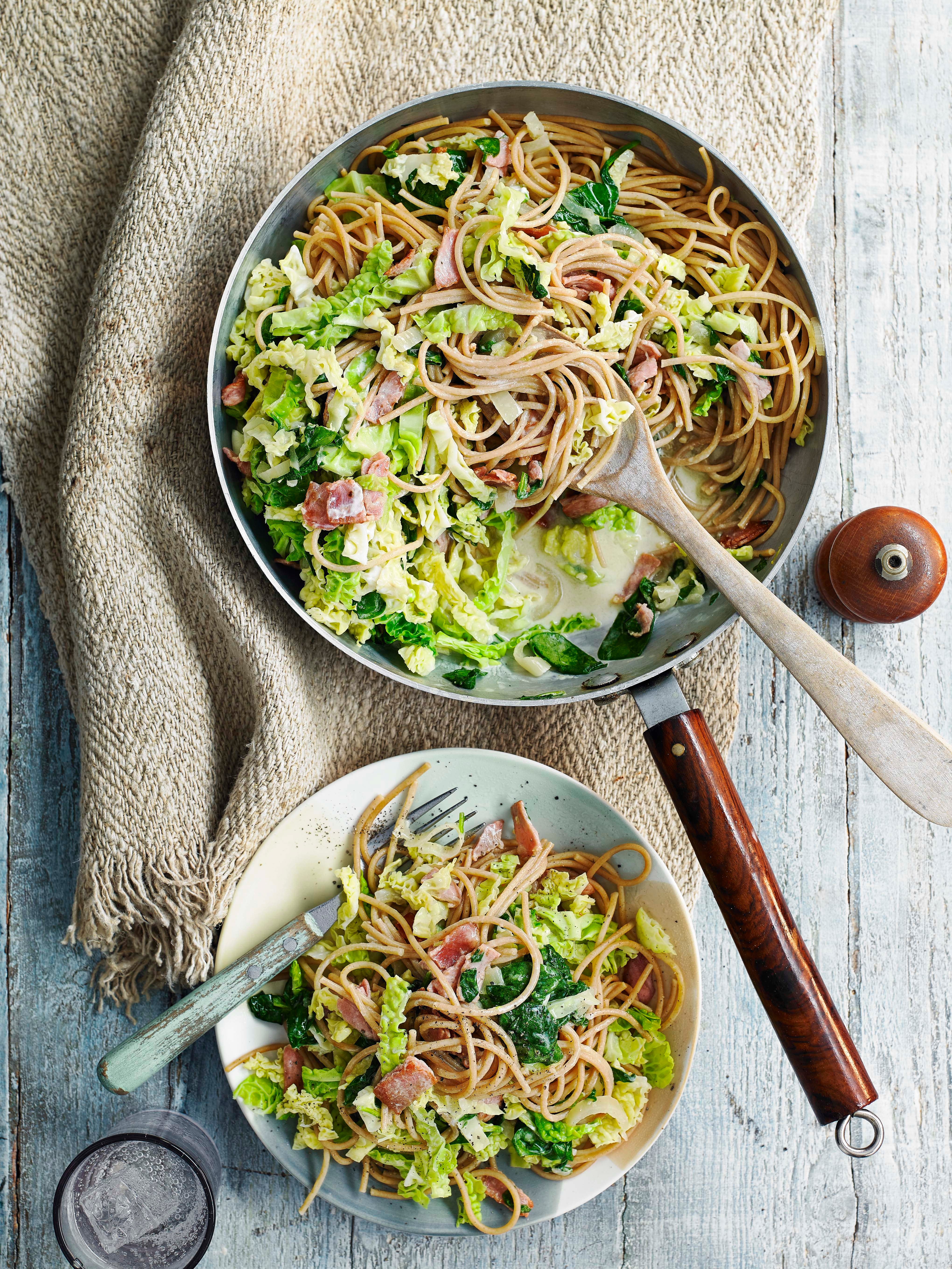 Photo of Bacon & cabbage pasta by WW