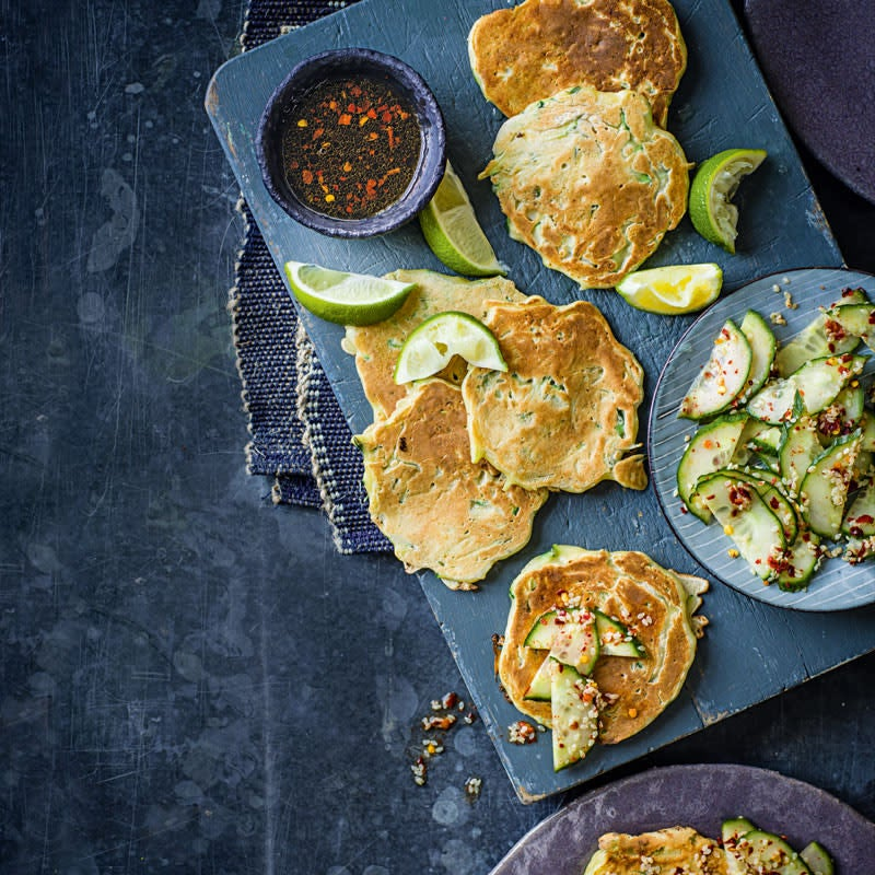 Photo of Savoury pancakes with spicy dipping sauce by WW