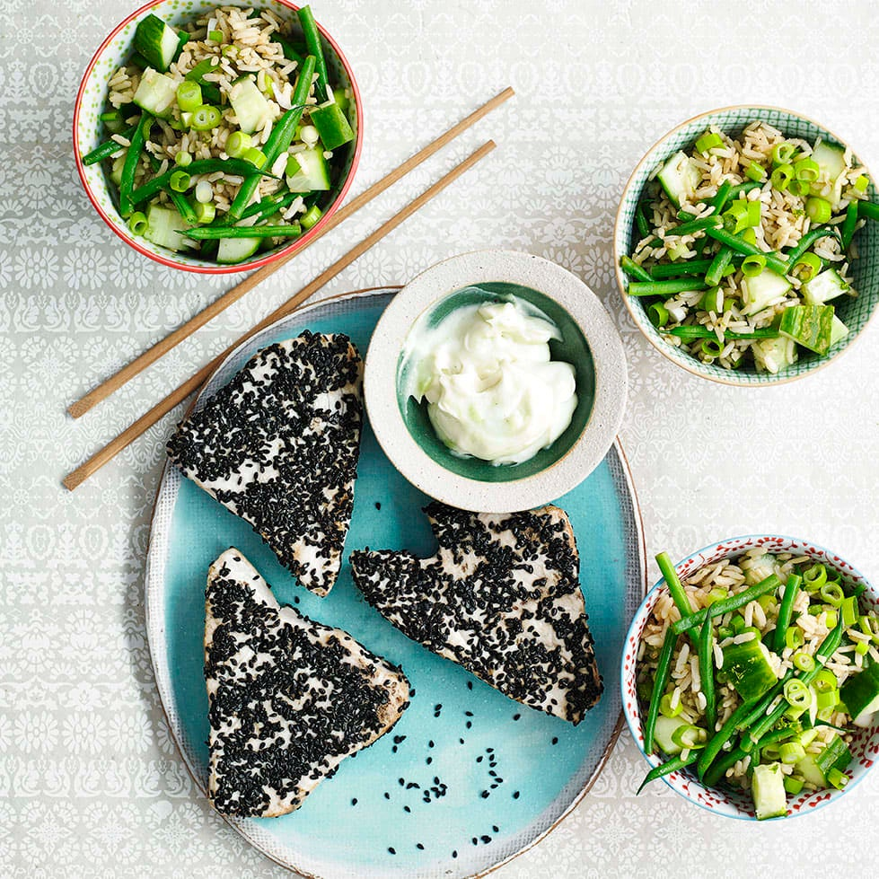 Photo of Sesame swordfish with Japanese style salad by WW