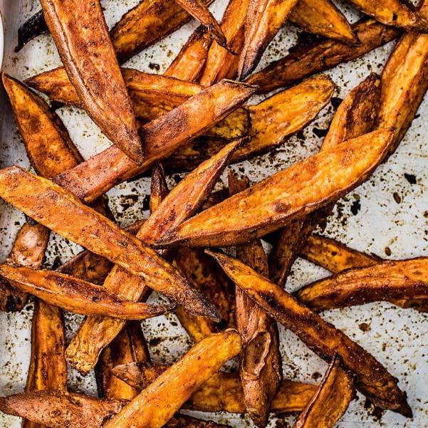 Photo of Roasted sweet potato wedges by WW
