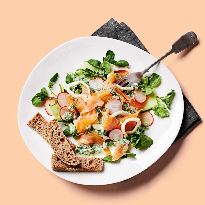 Photo of Zesty salmon with fennel & watercress salad by WW