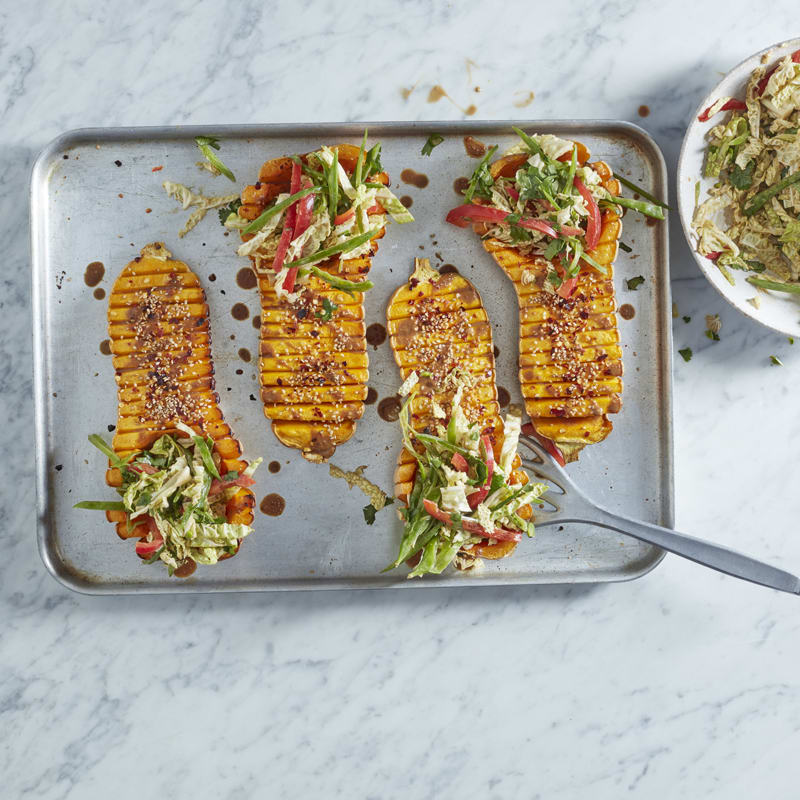 Photo of Hasselback squash with satay salad by WW