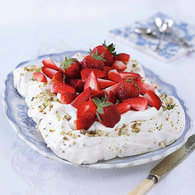 Photo of Strawberry, rose & pistachio pavlova by WW